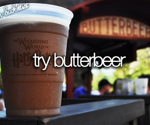 butterbeer, harry potter, and try image