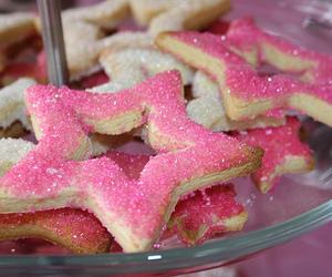 pink, stars, and food image