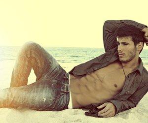 beach, boy, and sexy image