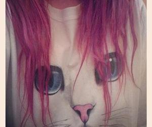 cat, hair, and pink image