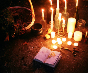 altar, witch, and candles image