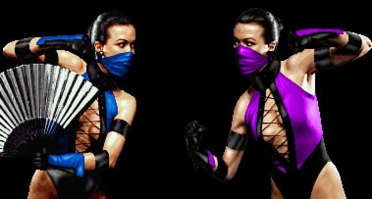 Becky Gable as Kitana and Mileena in Mortal Kombat III