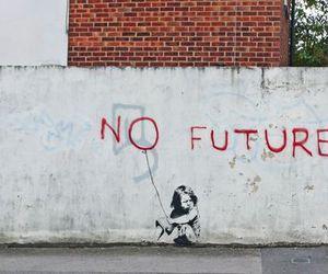 no future, BANKSY, and future image