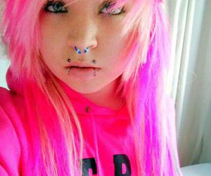 piercing, pink, and septum image