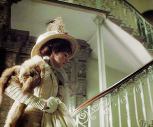 furs, staircase, and mr. selfridge image