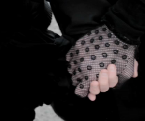 fishnet, hands, and funeral image
