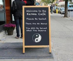 karma, cafe, and funny image