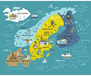 finland, map, and iceland image