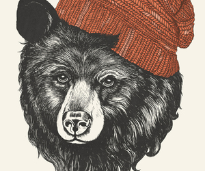 bear, art, and hipster image