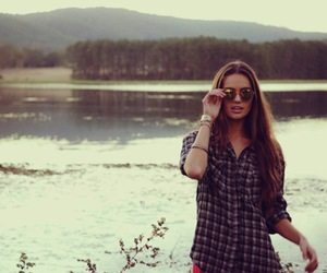 girl, sunglasses, and nature image