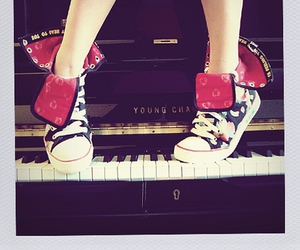 piano, converse, and music image