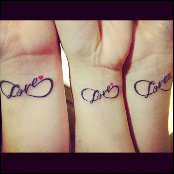 Mom Daughters Love Infinity Matching Tattoo With Mom And Little