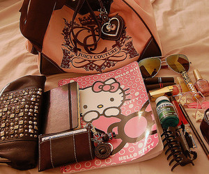 hello kitty, juicy couture, and bag image