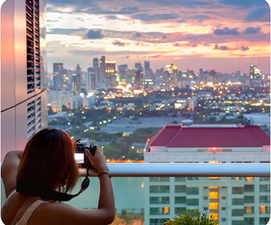 city, girl, and photography image