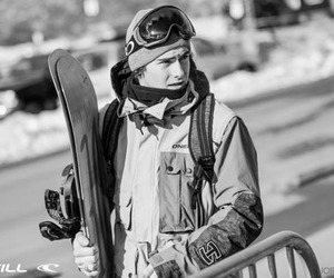 guy, snowboarder, and snowboarding image