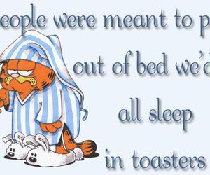 garfield, toaster, and morning image