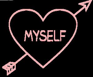 love, myself, and heart image