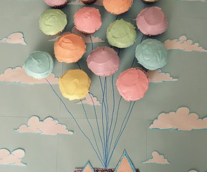 cupcake, up, and house image