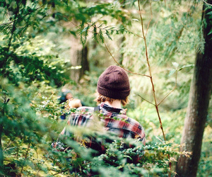 boy, forest, and nature image