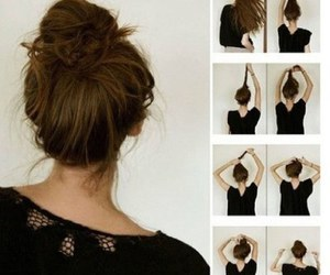 buns, hairstyles, and tumblr image