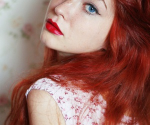 blue eyes, hair, and red hair image
