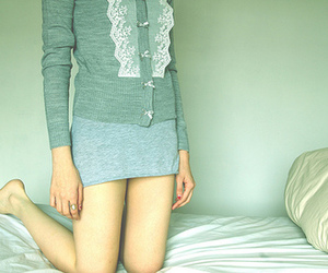 girl, bed, and clothes image