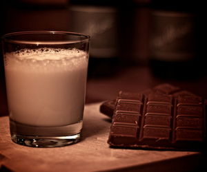 chocolate and milk with chocolate image