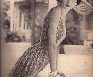 vintage, dress, and woman image