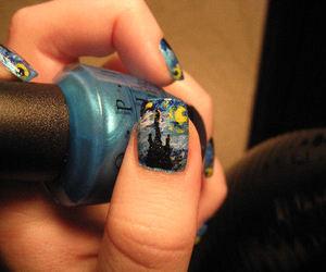 art, blue, and nail image