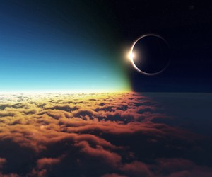 eclipse, awesome, and clouds image