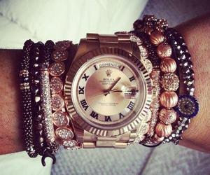watch, bracelet, and rolex image