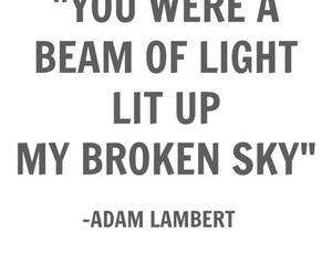 adam lambert, beam, and broken image