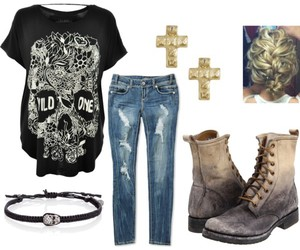 clothes, gold, and grunge image
