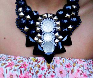 black, maxi, and necklace image
