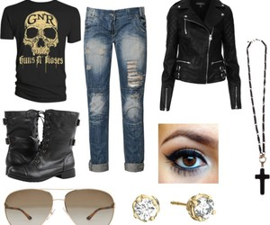 aviators, black, and boots image