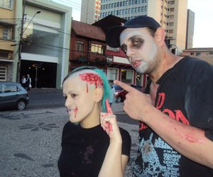 brains, zombie walk, and zombies image