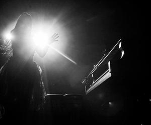 amy lee, b&w, and black and white image
