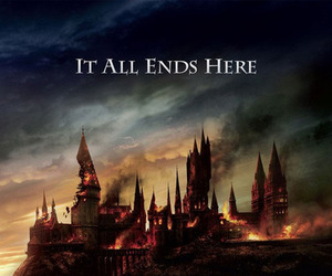 harry potter, hogwarts, and deathly hallows image