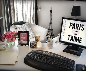 paris, computer, and room image