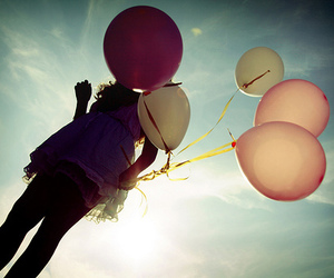 ballons, pink, and white image