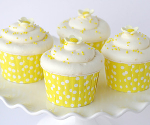 yellow, cupcake, and food image