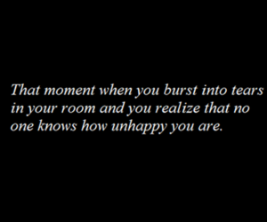 sad, quotes, and unhappy image