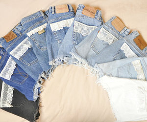 shorts, denim, and jeans image
