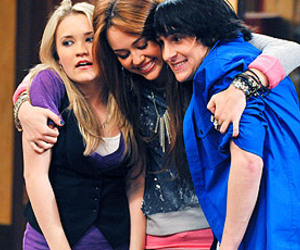 miley cyrus, emily osment, and friends image