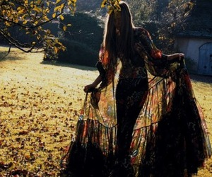 girl, dress, and hippie image