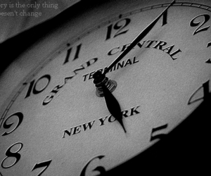 black and white, clock, and memory image