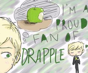 apple, draco malfoy, and draco image