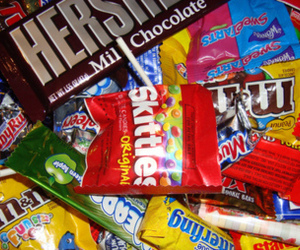 candy, chocolate, and m&m image