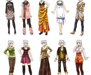 anime, clothes, and drawing image