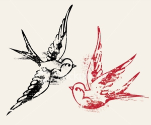 bird, swallow, and tattoo image